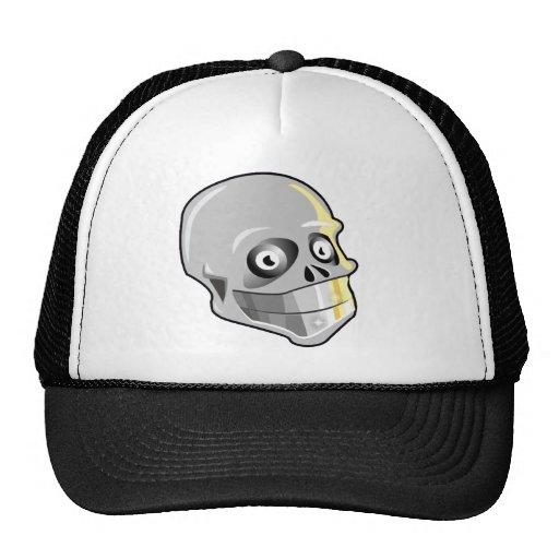 Cráneo con los dientes chispeantes gorras