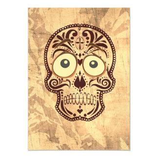 cráneo con los ojos grandes invitaciones magnéticas