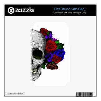 Cráneo con los rosas iPod touch 4G skin