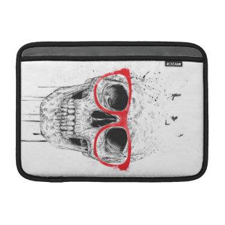 Cráneo con los vidrios rojos fundas macbook air