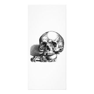 Cráneo con quijadas flojas, idea de Halloween Diseños De Tarjetas Publicitarias