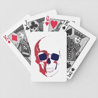 Cráneo con rojo sangre baraja cartas de poker