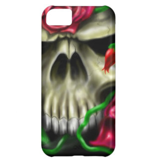 cráneo con roses.jpg funda para iPhone 5C