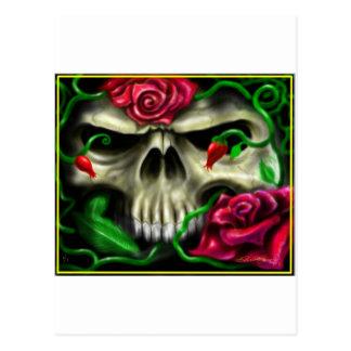 cráneo con roses.jpg tarjeta postal
