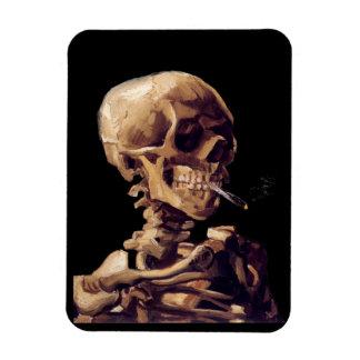 Cráneo con un cigarrillo ardiente de Van Gogh Iman Flexible