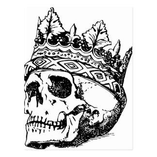Cráneo coronado tarjeta postal