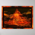 CRÁNEO CRISTALINO en pirámide Póster