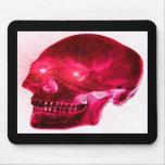 Cráneo cristalino rojo tapetes de raton