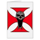 Cráneo cruzado de Templar Tarjeta