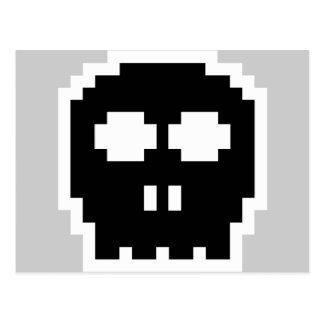 Cráneo de 8 bits negro retro