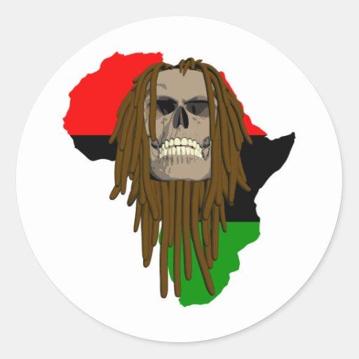 Cráneo de África Pegatina Redonda