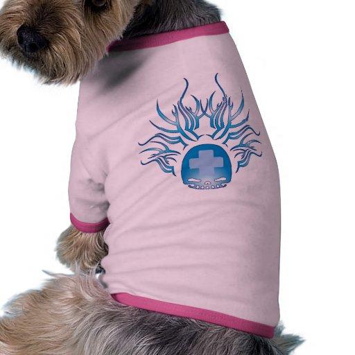 Cráneo de ayuda médico camisa de perro