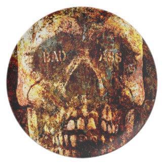 Cráneo de Badass Plato Para Fiesta