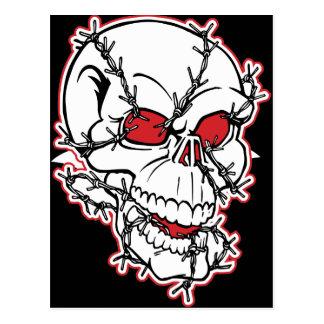 Cráneo de Barbewire Tarjetas Postales