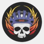 Cráneo de BMX Etiquetas Redondas