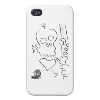 Cráneo de Bob Dobbs iPhone 4/4S Fundas
