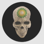 Cráneo de BP Etiqueta Redonda