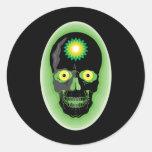 Cráneo de BP Etiquetas Redondas