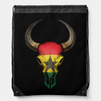 Cráneo de Bull de la bandera de Ghana Mochilas