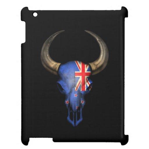 Cráneo de Bull de la bandera de Nueva Zelanda en n
