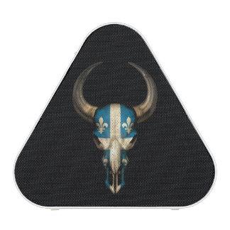 Cráneo de Bull de la bandera de Quebec Altavoz Bluetooth