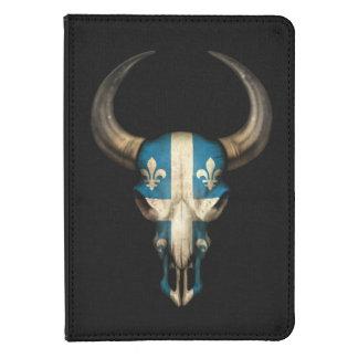 Cráneo de Bull de la bandera de Quebec Funda Para Kindle Touch