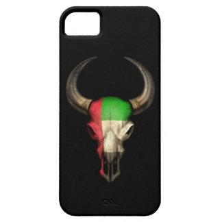 Cráneo de Bull de la bandera de United Arab Emirat iPhone 5 Case-Mate Coberturas