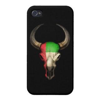 Cráneo de Bull de la bandera de United Arab Emirat iPhone 4 Fundas