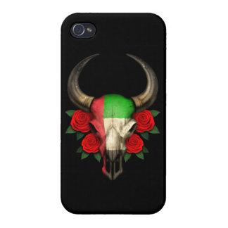 Cráneo de Bull de la bandera de United Arab Emirat iPhone 4 Protector
