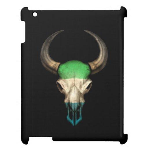 Cráneo de Bull de la bandera del Sierra Leone en n