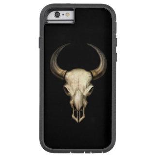 Cráneo de Bull en negro Funda De iPhone 6 Tough Xtreme