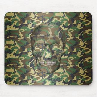 cráneo de Camo del arbolado 3D Tapetes De Ratones