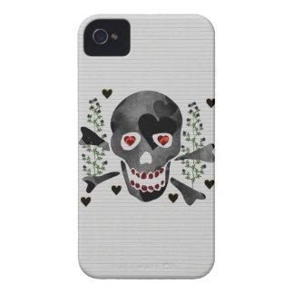 Cráneo de corazones iPhone 4 cobertura