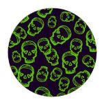 Cráneo de corazones - verde y púrpura fichas de póquer