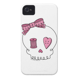 Cráneo de costura (rosa) iPhone 4 carcasa