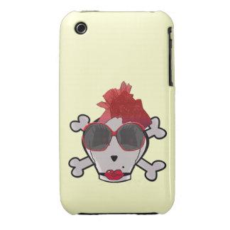 Cráneo de Crawford del hueso y gafas de sol y Carcasa Para iPhone 3