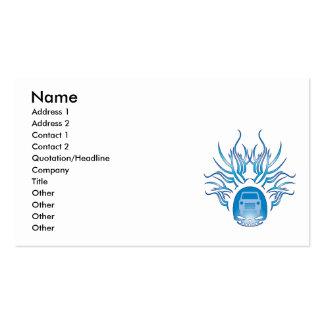 Cráneo de cristal auto tarjetas de visita