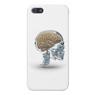 Cráneo de cristal con el cerebro iPhone 5 fundas