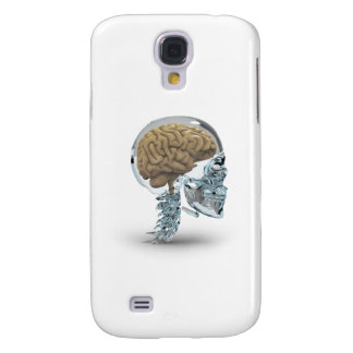 Cráneo de cristal con el cerebro funda para galaxy s4