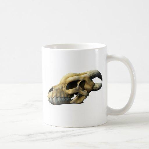 Cráneo de cuernos del dragón tazas