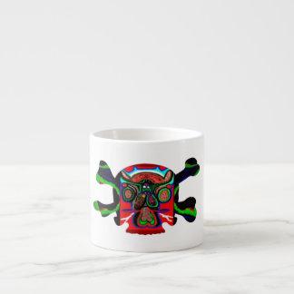 Cráneo de Deco - extranjero de Bull y gráficos col Taza Espresso