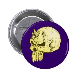 Cráneo de demonio calavera demon skull pin redondo de 2 pulgadas