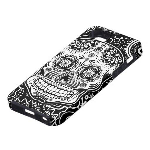 Cráneo de Dia De Los Muertes Sugar iPhone 5 Carcasas