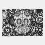 Cráneo de Dia De Los Muertes Sugar Toalla