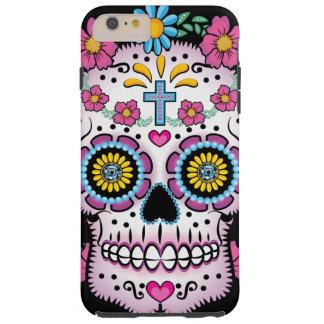 Cráneo de Dia de los Muertos Sugar Funda Resistente iPhone 6 Plus