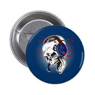 Cráneo de DJ Pin Redondo 5 Cm