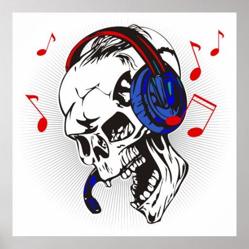 Cráneo de DJ Posters