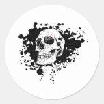 Cráneo de EMO Etiquetas Redondas