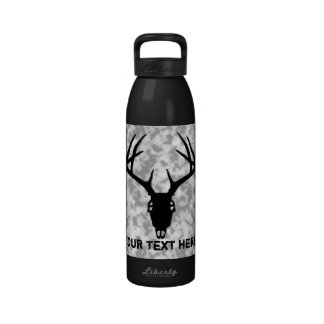Cráneo de encargo de la caza de los ciervos botella de agua reutilizable