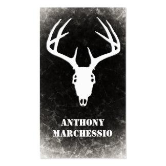 Cráneo de encargo de la caza de los ciervos tarjetas de visita